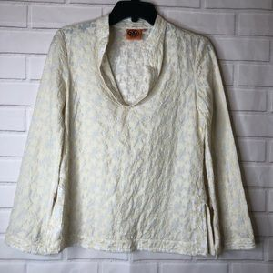 Tory Burch Stephanie Star Embroidered Tunic Top